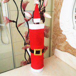 Xmas Table Decor Santa Clothes Wine Bottle Cover Bag