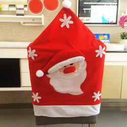 Christmas Supplies Dinner Decoration Santa Pattern Chair Back Cover