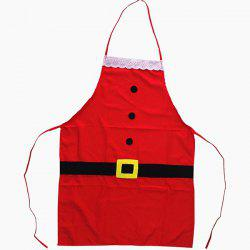 Kitchen Party Supplies Santa Claus Christmas Apron - RED