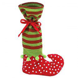 Merry Christmas Gift Sock Candy Bag - RED AND GREEN
