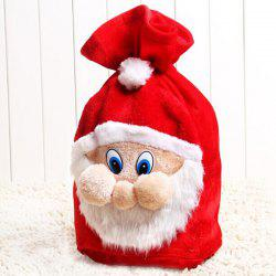 Merry Christmas Santa Claus Plush Candy Gift Bag