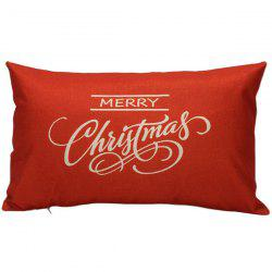 Merry Christmas Bed Sofa Backrest Throw Pillow Cover