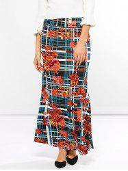 Mid Waist Striped Print Skirt -