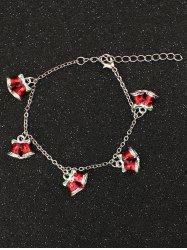 Bows Christmas Bells Charm Bracelet - RED