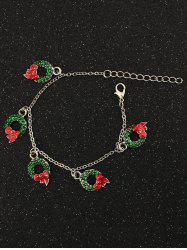 Bows Christmas Garland Charm Bracelet - SILVER