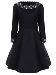 Polka Dot Flat and Flare Dress