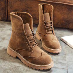 Retro Fold Down Wingtip Short Boots