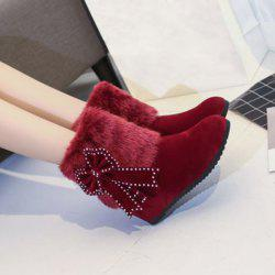 Hidden Wedge Bowknot Snow Boots