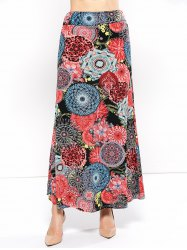 Mid Rise Floral Print Skirt - COLORMIX