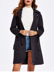 Drawstring Pockets Field Jacket