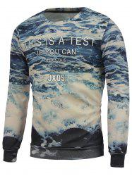 Seawater 3D Printed Crew Neck Sweatshrit