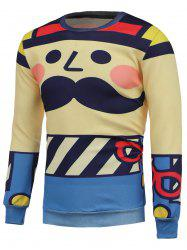 Cartoon Printed Crew Neck Sweatshrit