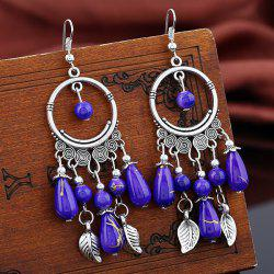 Vintage Leaf Beads Earrings -