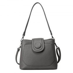 PU Leather Single Button Shoulder Bag