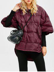 Hooded High-Low Oversized Down Coat -