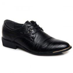 Metal PU Leather Lace Up Formal Shoes