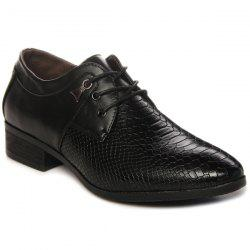 Lace Up Embossing Metal Formal Shoes -
