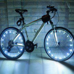 20 LED Flash Waterproof Safe Bicycle Wheel Lamp - WHITE