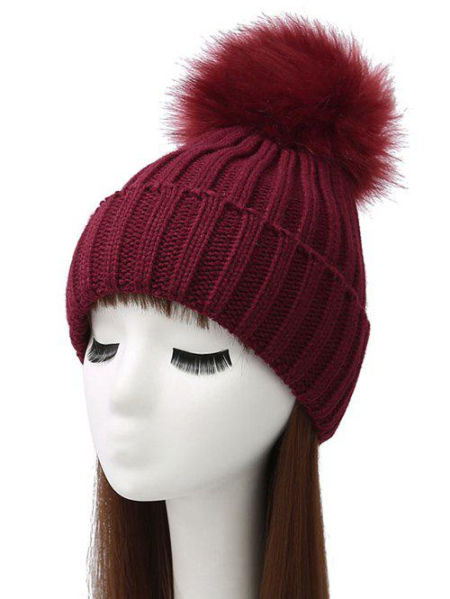 Best Pom Ball Flanging Knitted Beanie