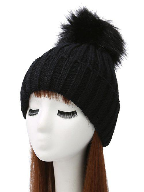 Shops Pom Ball Flanging Knitted Beanie