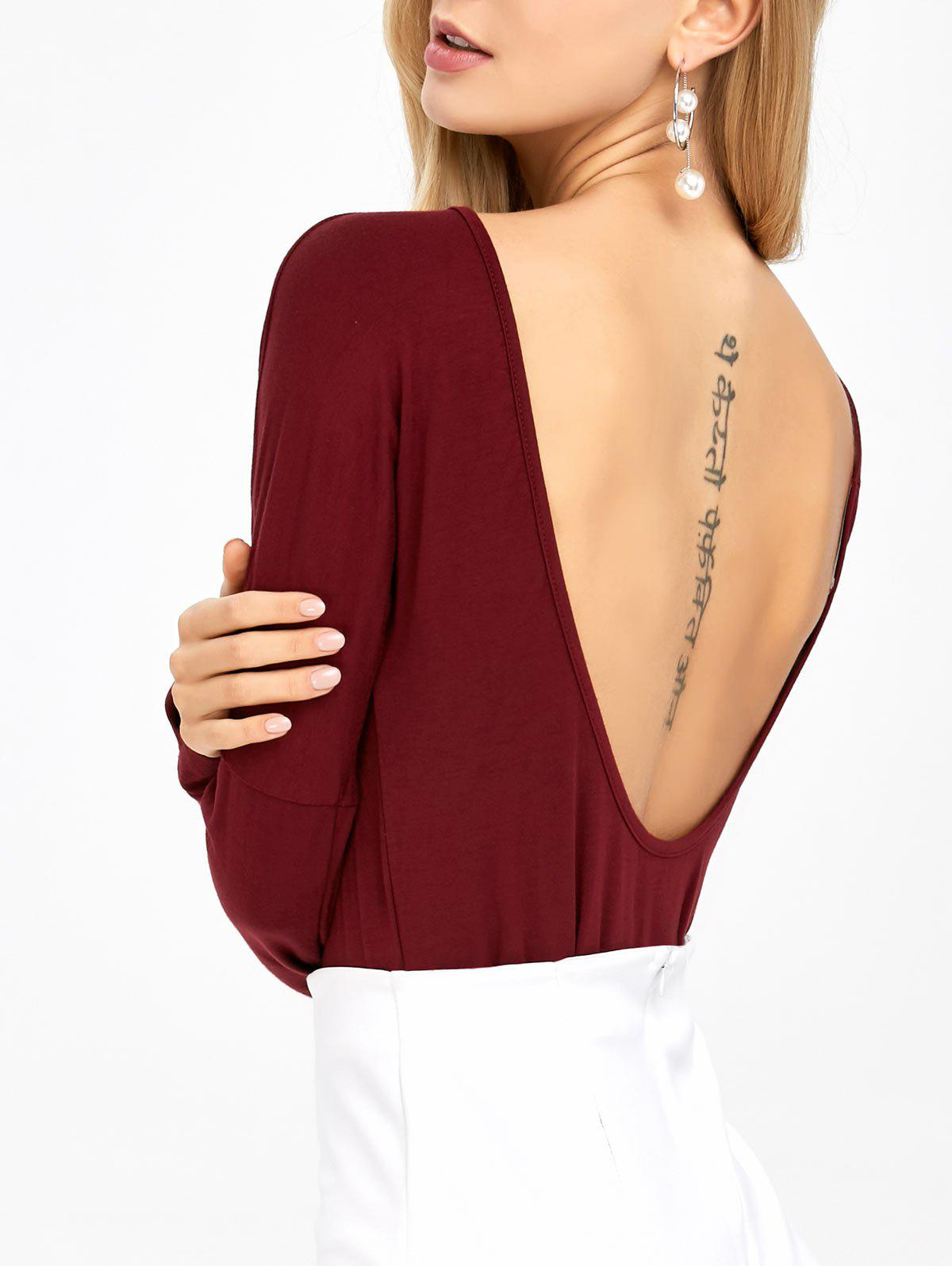 Buy Open Back Drop Shoulder T-Shirt