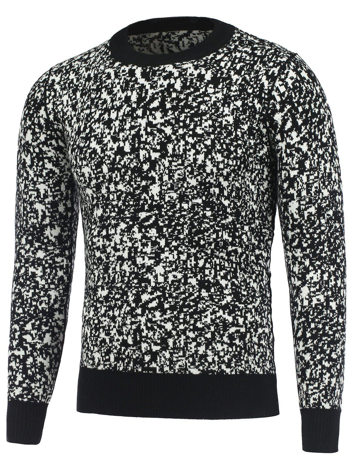Manches longues col rond texture Pull