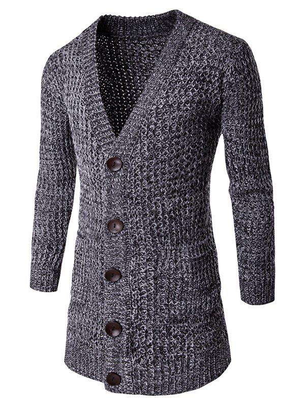 Outfits Pocket Button Front V Neck Knitted Cardigan