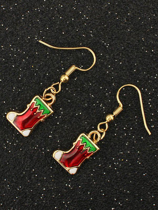 Affordable Christmas Boots Drop Earrings
