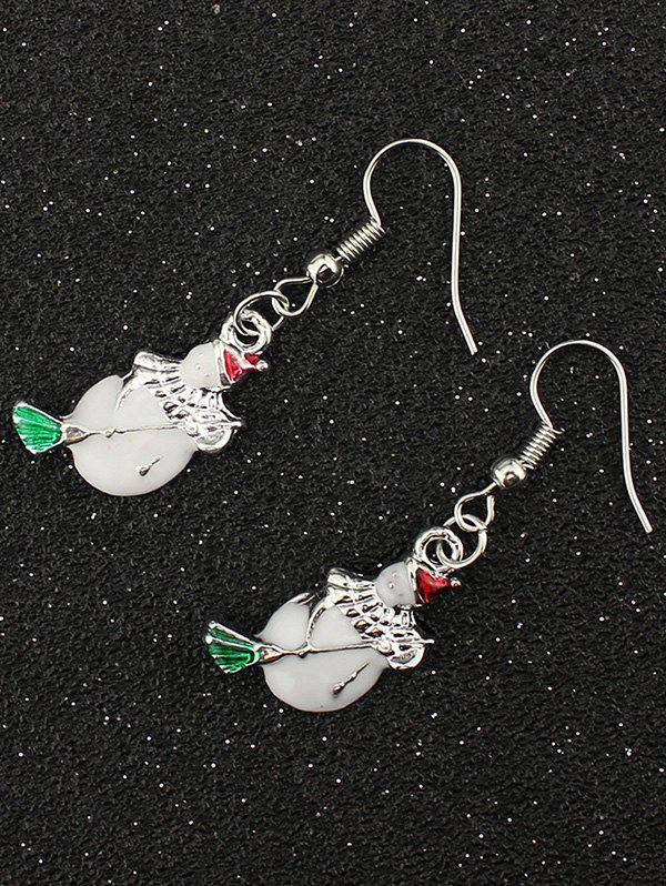 Christmas Snowman EarringsJEWELRY<br><br>Color: SILVER; Earring Type: Drop Earrings; Gender: For Women; Style: Trendy; Shape/Pattern: Others; Weight: 0.030kg; Package Contents: 1 x Earring (Pair);