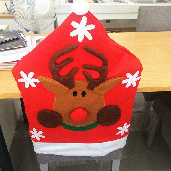 Christmas Supplies Dinner Decoration Elk Pattern Chair Back CoverHOME<br><br>Color: RED; Event &amp; Party Item Type: Party Decoration; Occasion: Christmas,Party; Size(L*W)(CM): 50*65; Weight: 0.140kg; Package Contents: 1 x Chair Cover;