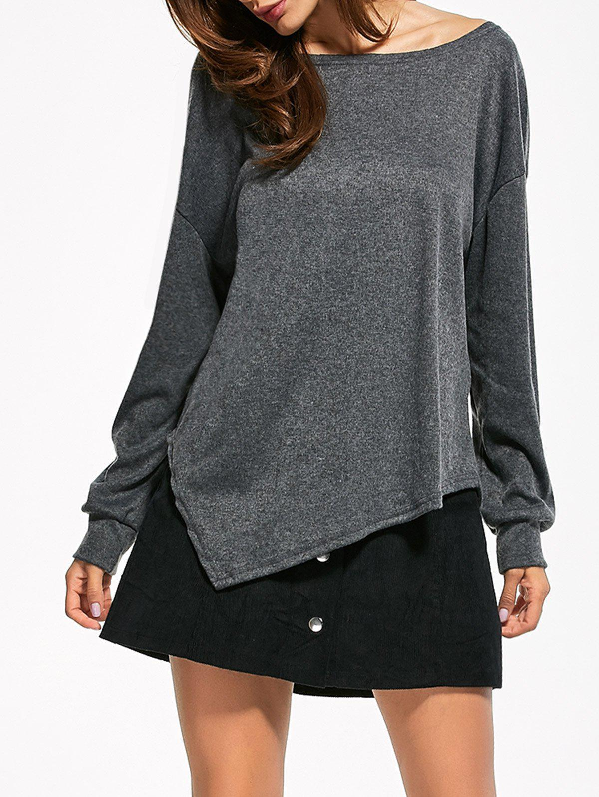 Buy Drop Shoulder Asymmetrical T-Shirt