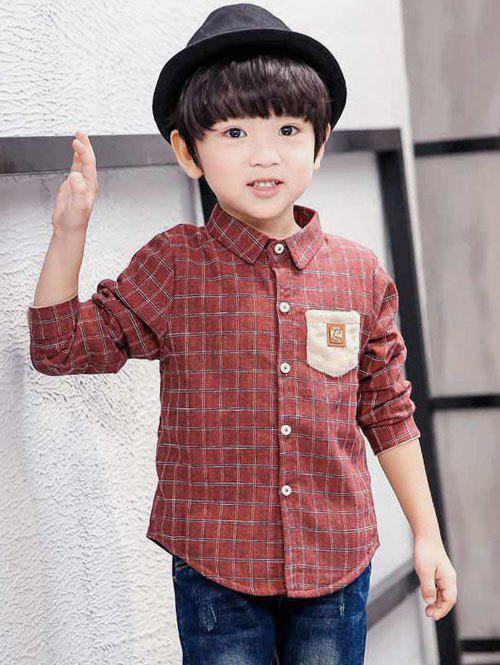 Fashion Boys Pocket Design Checked Shirt