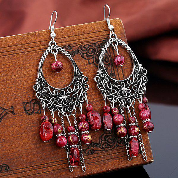 Buy Teardrop Flower Beads Tassel Earrings