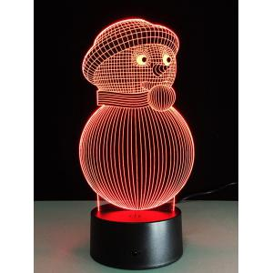 3D Christmas Snowman Shape Touch Colorful Night Light -