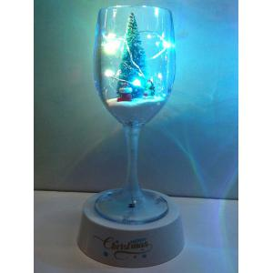 Colorful USB Merry Christmas Goblet Cup LED Night Light -