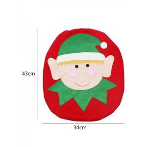 3PCS Christmas Supplies Bathroom Toilet Closestool Cover Floor Mats -