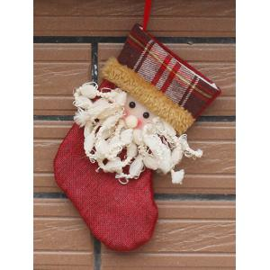 Santa Present Stocking Sock Christmas Tree Festival Decoration - Red