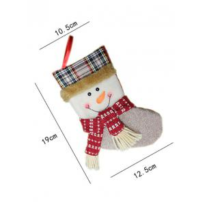 Christmas Tree Hanging Decoration Snowman Present Stocking Sock -