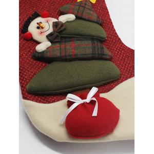 Snowman Hanging Kids Present Sock Christmas Decoration -