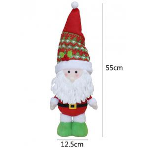 Christmas Gift Standing Santa Claus Doll Xmas Decoration - RED/WHITE