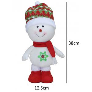 Cut Standing Snowman Doll Toy Xmas Decoration Best Gift - RED/WHITE