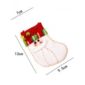 Christmas Santa Xmas Tree Decor Hanging Present Bag Sock - RED/WHITE