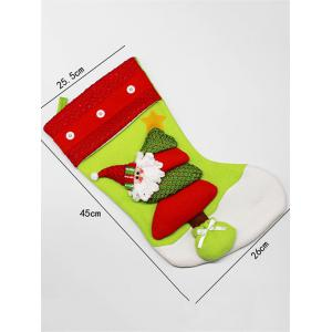 Xmas Tree Decor Santa Hanging Christmas Gift Stocking Bag -