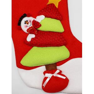 Party Decor Christmas Snowman Hanging Present Bag Sock - RED/GREEN