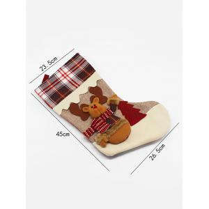 Elk Pattern Hanging Candy Present Sock Party Decoration - COLORMIX