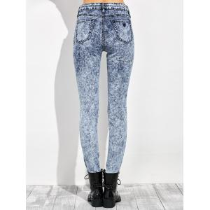 High Waisted Acid Washed Jeans -