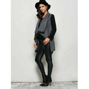 One Button Asymmetrical Coat -