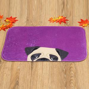 Coral Fleece Dog Antislip Resistant Bathroom Entrance Carpet -