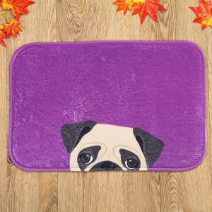 Coral Fleece Dog Antislip Resistant Bathroom Entrance Carpet - Purple - Xl
