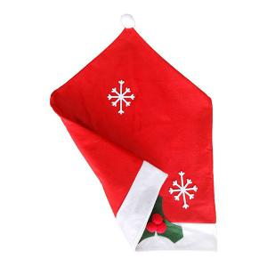 Christmas Decorations Non-Woven Snowflake Chair Covers - RED